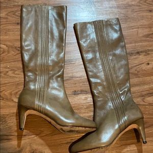 Cole haan Nike air leather heeled boots Sz 9.5 B